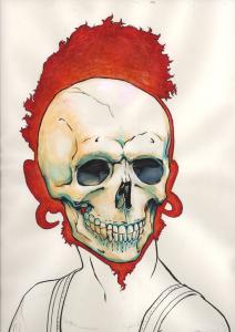 Some dude's skull